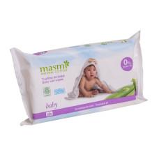 Masmi  органические детские влажные салфетки, 60шт