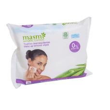 MASMI Органические влажные салфетки для удаления макияжа, 20шт