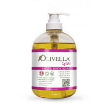 Жидкое мыло для лица и тела Фиалка на основе оливкового масла, 500мл