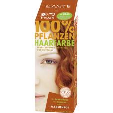 БИО-Краска-порошок для волос растительная Красное пламя/Flame Red, 100мл