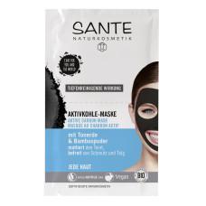 SANTE БИО-Маска для лица Active Carbon от черных точек,  2*4мл