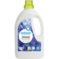 Органическое жидкое средство Universal / Bright&White для стирки белых и цветных вещей при любых температурах, с эффектов сохранения ярких цветов и белизны вещей (от 30°), 1,5л