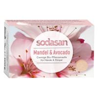 Органическое мыло увлажняющее для лица Миндаль-Авокадо, 100 г