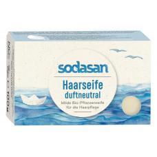 Органическое нежное мыло-шампунь (твердый шампунь) для волос для чувствительной кожи головы, не ароматизированное, 100 г