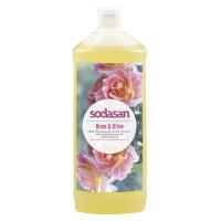 Органическое Мыло Rose-Olive жидкое, тонизирующее  с розовым и оливковым маслами 1 л