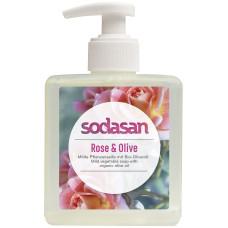 Органическое  Мыло Rose-Olive жидкое, тонизирующее с розовым и оливковым маслами  0,3 л